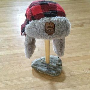 Minnesota Red Buffalo Plaid Bomber Hat
